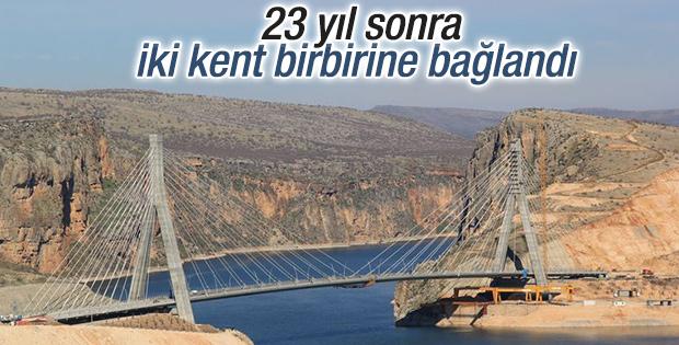 Nissibi Köprüsü 23 yıl sonra batıyı birbirine bağladı