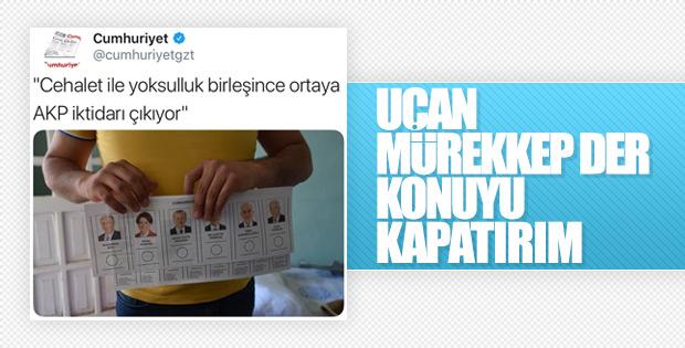 Cumhuriyet AK Parti'ye oy verenleri yine yaftaladı