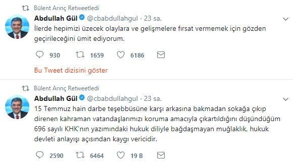 Abdullah Gül: Söylediklerim oraya buraya çekilmemeli