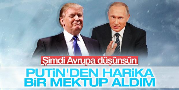 Trump'tan Putin'in mektubuna övgü