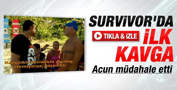 2014 Survivor'da ilk kavga - Video