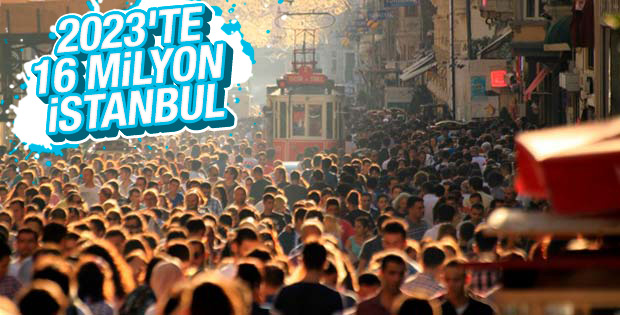 İstanbul nüfusu 5 yılda 1 milyon arttı