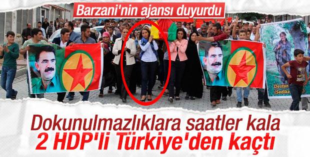 HDP'li Tuğba Hezer ve Sarıyıldız Türkiye'yi terk etti