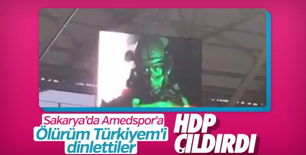 Amedspor maçı öncesi Ölürüm Türkiyem çaldı