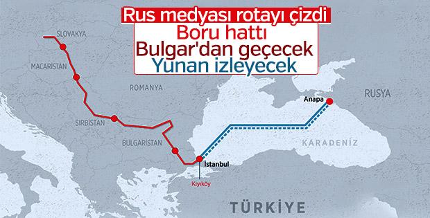 Rus medyası: Türk Akım'da Avrupa için rota belli oldu