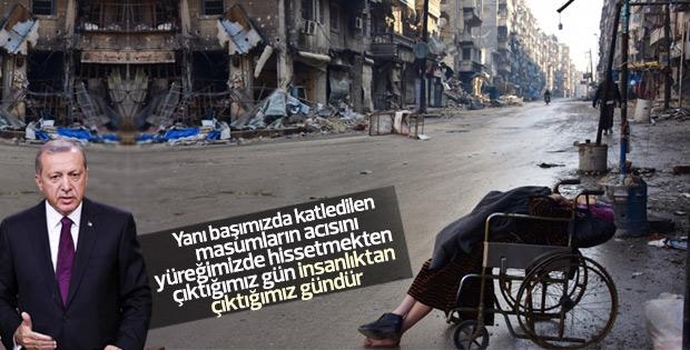 Erdoğan Halep'teki katliama dikkat çekti