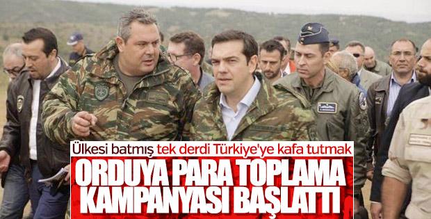 Yunanistan'da orduya para toplama kampanyası başladı