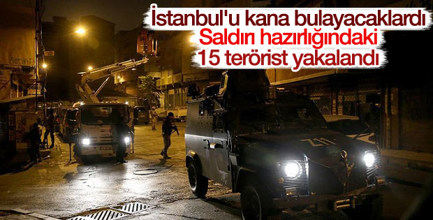 İstanbul'da eylem hazırlığındaki 15 PKK'lı yakalandı