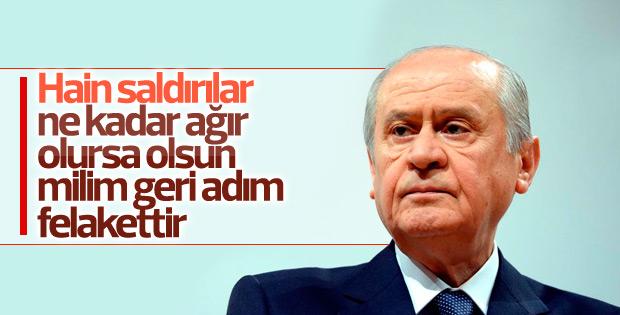 MHP lideri Bahçeli'den Twitter'da açıklamalar