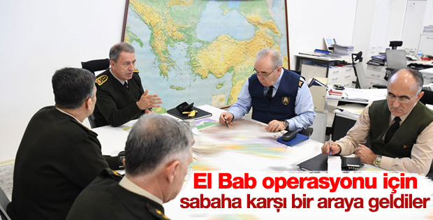 Genelkurmay'dan El Bab operasyonu toplantısı
