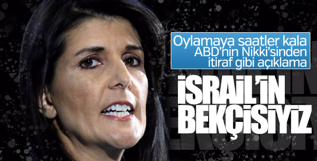 ABD'nin BM temsilcisinden İsrail itirafları