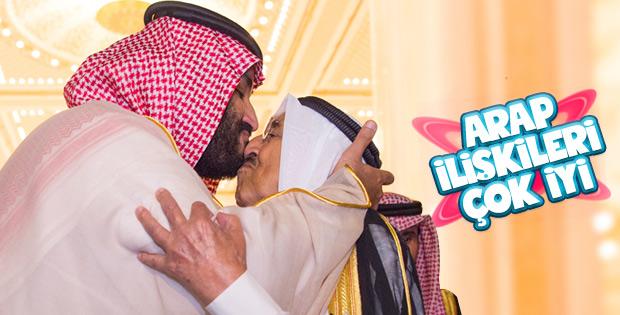 Veliaht Selman ile Kuveyt Emiri'nden sıcak buluşma