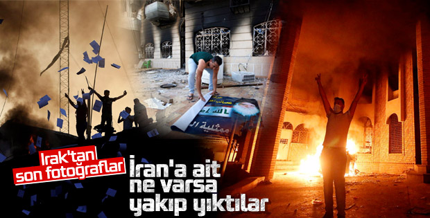 Basra alev alev yanıyor