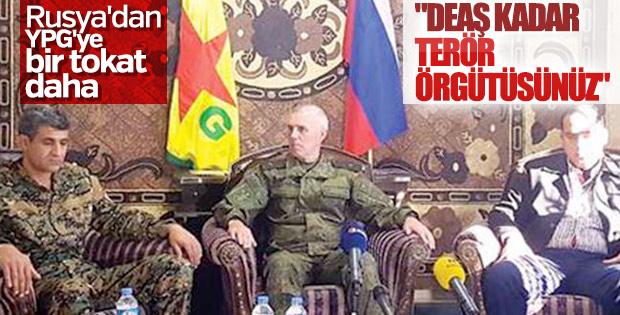 Rusya YPG için ilk kez terör örgütü dedi