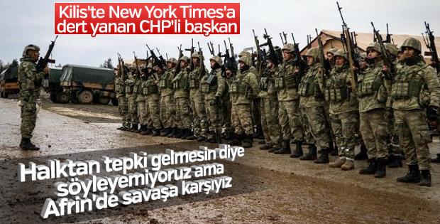 CHP'li başkanın Zeytin Dalı ihaneti