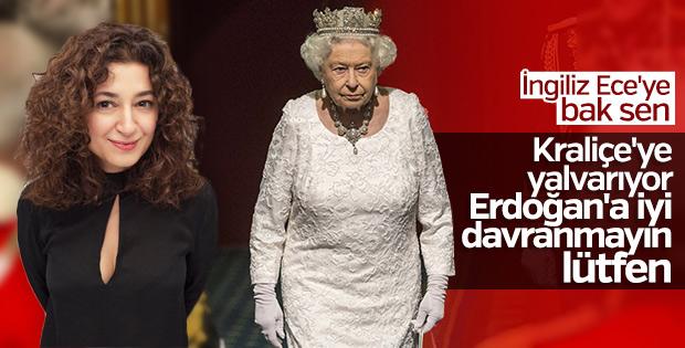 Ece Temelkuran Kraliçe Elizabeth'e yalvardı