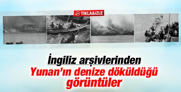 Yunan askerlerinin denize dökülüşü