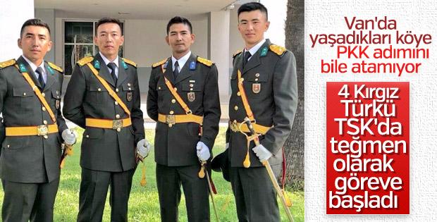 PKK'nın giremediği Kırgız köyünden TSK'ya 4 subay