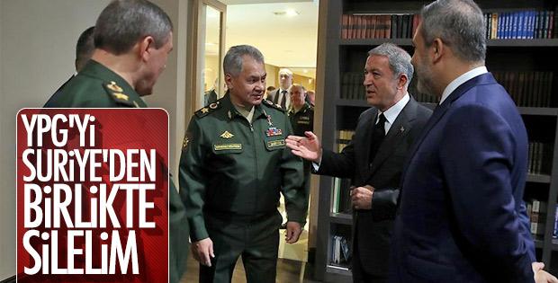 Milli Savunma Bakanı Akar Rus mevkidaşıyla görüştü