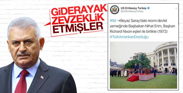 Başbakan'a ABD Büyükelçiliği'nin paylaştığı fotoğraf soruldu