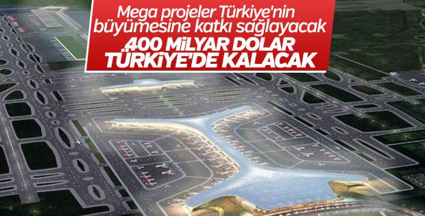 Mega projeler Türkiye'nin büyümesine katkı sağlayacak