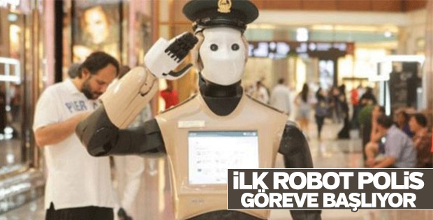 Dubai'de ilk robot polis görev başına geçiyor
