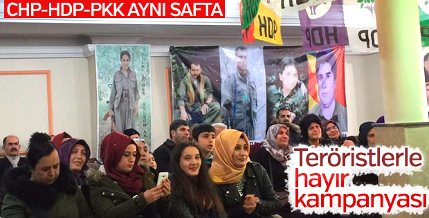 Hayır cephesinde PKK'lılar da var