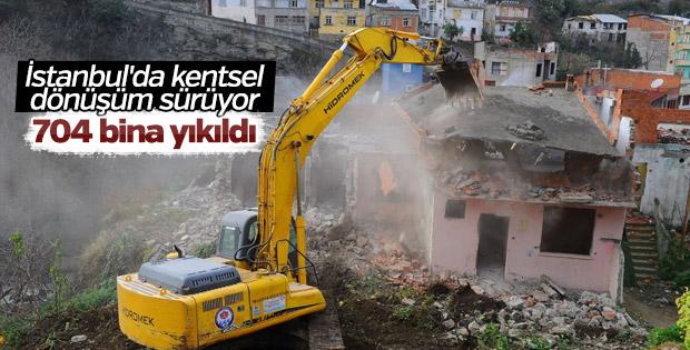İstanbul'da kentsel dönüşümle 704 bina yıkıldı