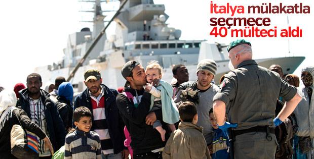 İtalya 40 Suriyeli sığınmacıyı aldı