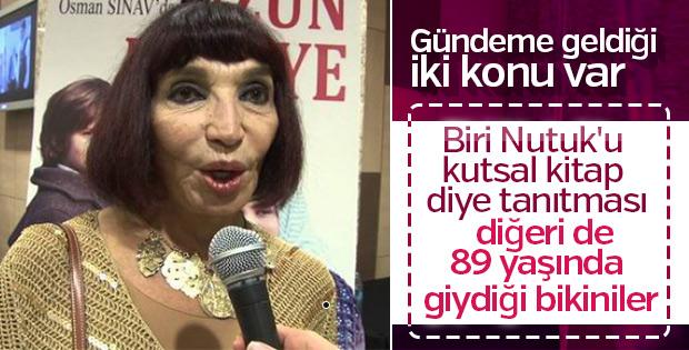 Gülriz Sururi'den 89'uncu yaşına özel bikinili poz