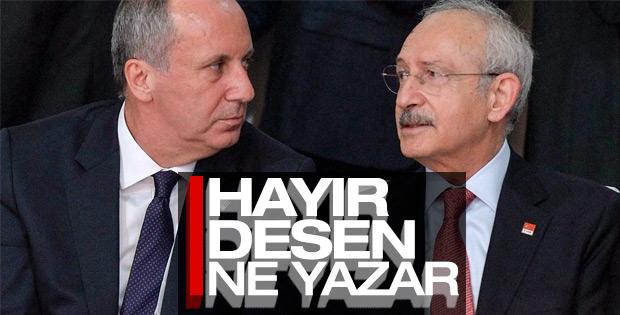 Muharrem İnce'den Kemal Kılıçdaroğlu'na örgüt tehdidi