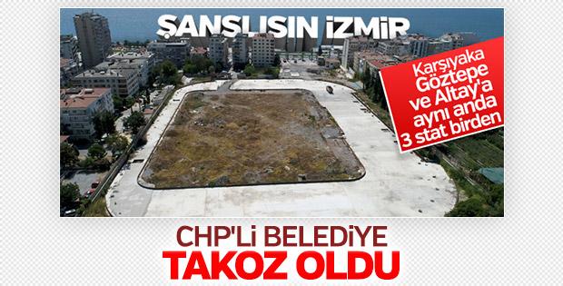 Alsancak Stadı'nın yapımına Konak Belediyesi engel oldu