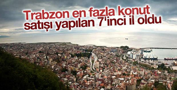 Trabzon en fazla konut satışı yapılan 7'inci il oldu