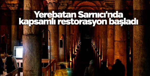 Yerebatan Sarnıcı'nda kapsamlı restorasyon başladı