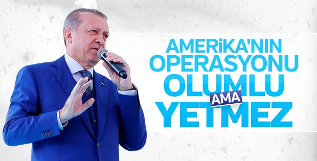 Erdoğan ABD'nin Suriye rejimini vurmasını yorumladı