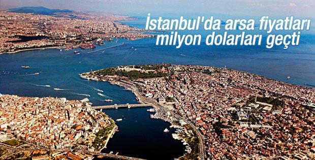 İstanbul'da arsa fiyatları milyon dolarları aştı