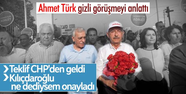 Ahmet Türk Kemal Kılıçdaroğlu ile gizli görüşmeyi anlattı