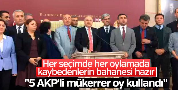 CHP: AK Partililer mükerrer oy kullandı