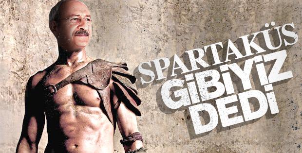Kemal Kılıçdaroğlu kendini Spartaküs'e benzetti