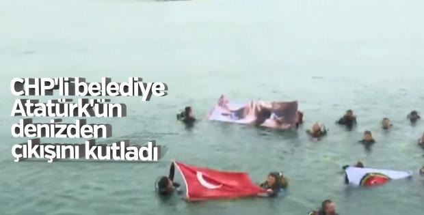 Kalamış sahilinde Atatürk dalışı