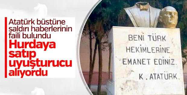 Uyuşturucu almak için Atatürk büstü çalıp sattı
