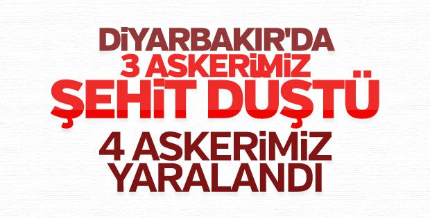 Diyarbakır'daki çatışmada 3 asker şehit oldu