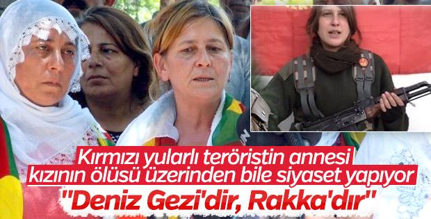 Kırmızı fularlı teröristin annesi: Deniz Rakka'dır