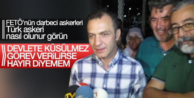 Yüzbaşı Murat Eren tahliye edildikten sonra konuştu