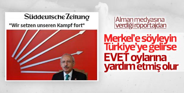 Kılıçdaroğlu, Alman gazetesine konuştu