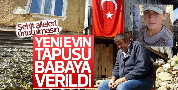 Şehit Erkan Özdemir'in ailesine ev alındı