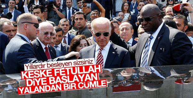 Joe Biden'dan FETÖ açıklaması