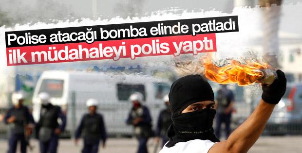 Diyarbakır'da terörist polise atacağı bombayla yaralandı