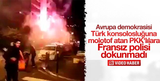 Fransa'da Türk konsolosluğuna molotoflu saldırı