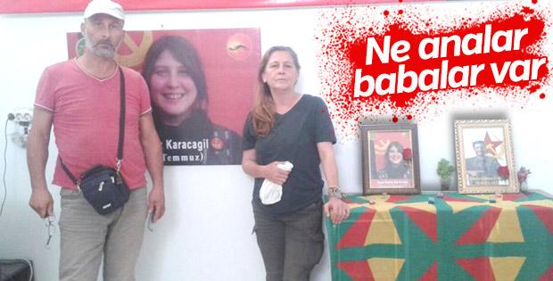 Kırmızı fularlı teröristin ailesi Kobani'de